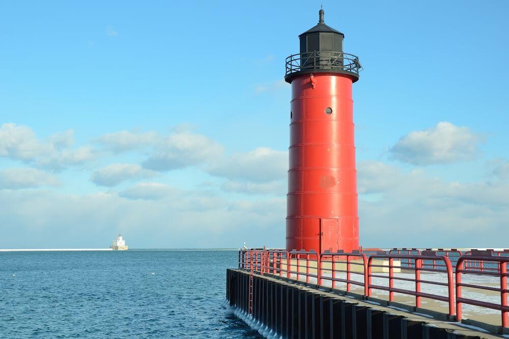 Lake Michigan Lighthouse - Milwaukee WI