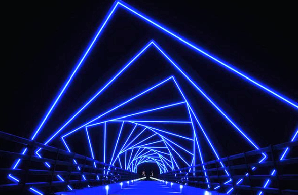 High Trestle Trail Bridge in Des Moines Iowa